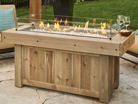 Outdoor Greatroom Vintage Linear 54 x 25 Rectangular Fire Table