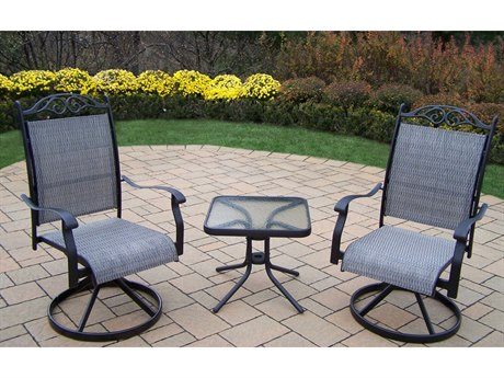 Oakland Living Cascade Aluminum Framed 3 Pc. Chat set