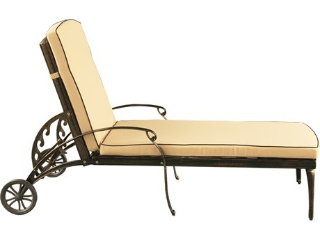 Oakland Living Mesh Modern Bronze Aluminum Chaise Lounge with Wheels