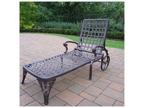 Oakland Living Elite Cast Aluminum Chaise Lounge