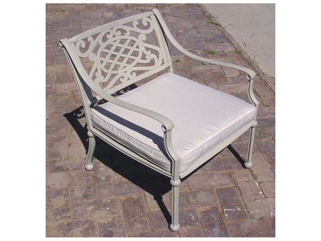 Oakland Living Tacoma Aluminum Deep Seat Club Arm Chair with Cushion