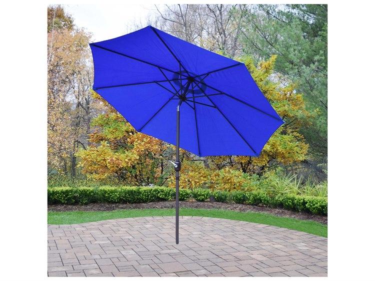 Oakland Living Aluminum 9 ft. Metal Framed Umbrella with Crank and Tilt system PatioLiving