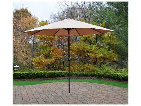 Oakland Living Aluminum 9 ft. Metal Framed Umbrella with Crank and Tilt system