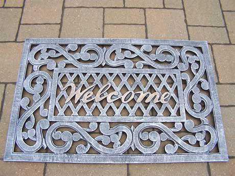 Oakland Living Welcome Cast Aluminum Doormat