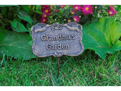 Oakland Living Garden Marker Grandmas Garden in Antique Bronze