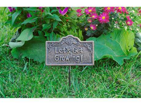 Oakland Living Garden Marker Lets Get Growing in Antique Bronze
