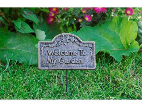 Oakland Living Garden Marker Welcome To My Garden in Antique Bronze