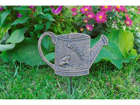 Oakland Living Cast Aluminum Garden Marker Welcome Frog