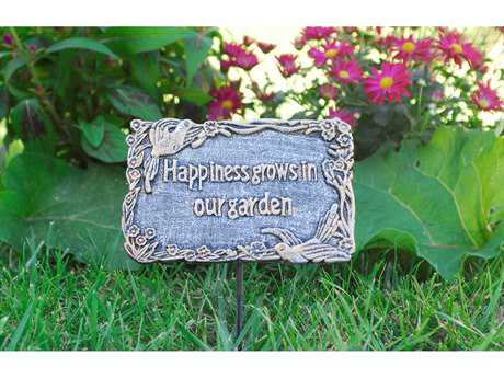Oakland Living Cast Aluminum Garden Marker Happiness Grows In Our Garden