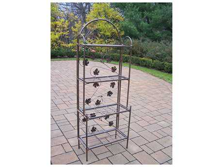 Oakland Living Wroung Iron Bakers Rack Sun Valley
