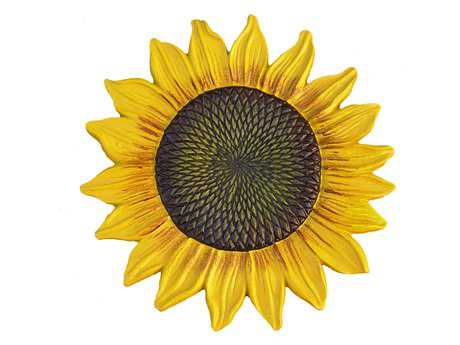 Oakland Living Sunflower Cast Aluminum Stepping Stone in Yellow