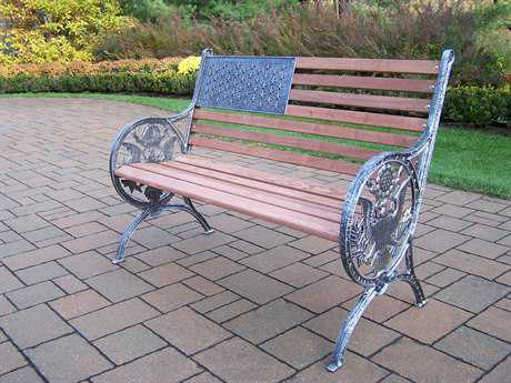 Oakland Living Cast Iron Proud American Bench