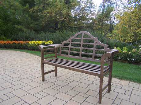 Oakland Living Cast Aluminum King Louis Bench in Antique Bronze