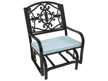 Oakland Living Lakeville Cast Aluminum Glider Chair with Cushion