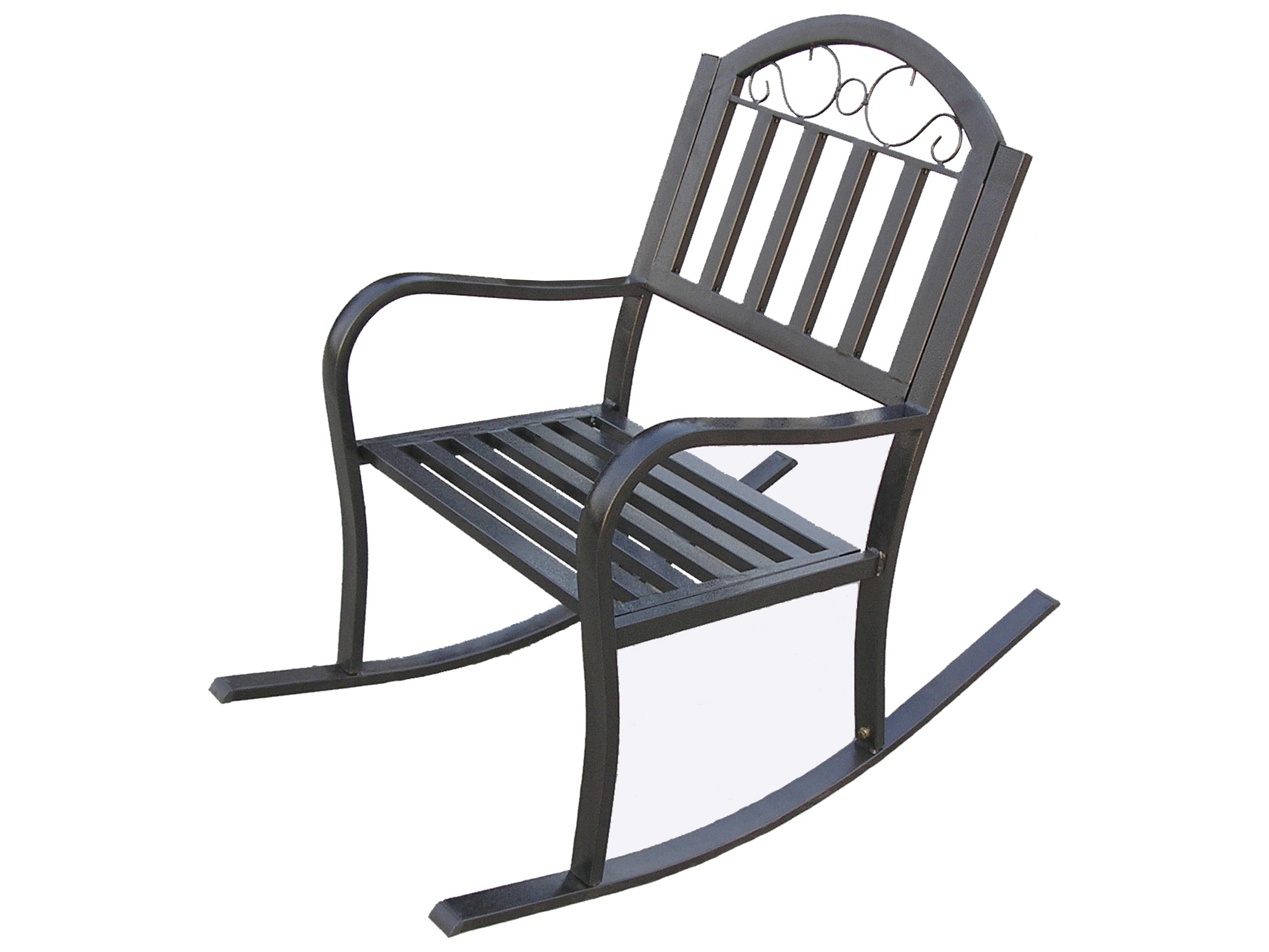Oakland Living Rochester Wrought Iron Rocker Chair 6124 Hb