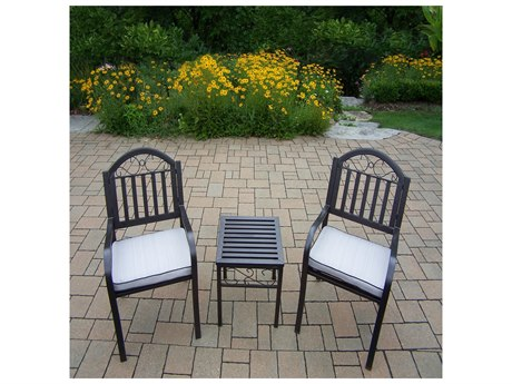 Oakland Living Rochester Extrunded Iron Chairs and Table 3 Pc. Set