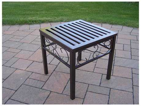 Oakland Living Rochester Wrought Iron 18 Square End Table