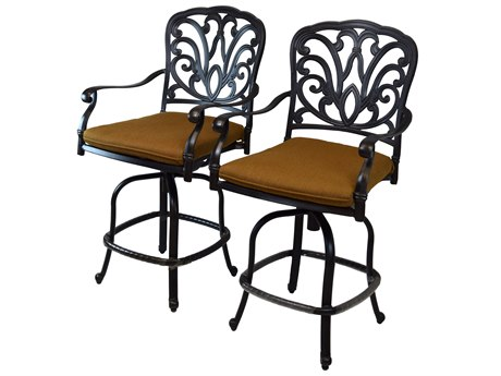 Oakland Living Hampton Aluminum Counter Height Bar Stools
