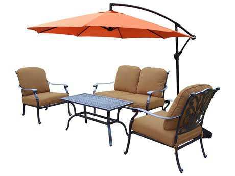 Oakland Living Hampton Aluminum 5 Pc. Deep Seating Chat Set