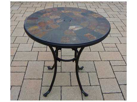 Oakland Living Stone Art Steel 26 Round Bistro Table