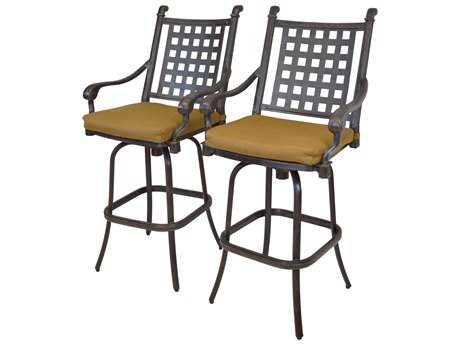 Oakland Living Belmont Aluminum Swivel Bar Stool 2 Pc. Set
