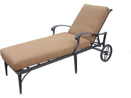 Oakland Living Belmont Aluminum Chaise Lounge on wheels