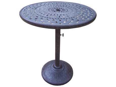 Oakland Living Belmont Cast Aluminum 42 Round Bar Table