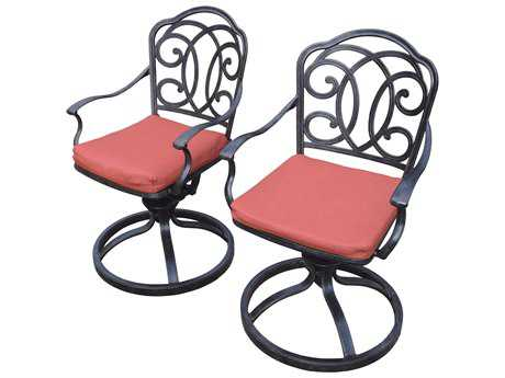 Oakland Living Pair of Berkley Aluminum Swivel Rockers