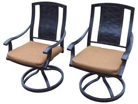 Oakland Living Pair of Vanguard Aluminum Swivel Rockers