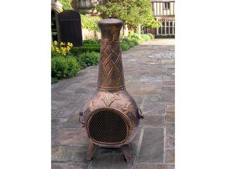 Oakland Living Grape Cast Iron 53-inch tall Chimenea with Built-in Handles