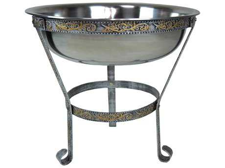 Oakland Living Coolers Stainless Steel 20-inch Ice Bucket with sturdy Stand