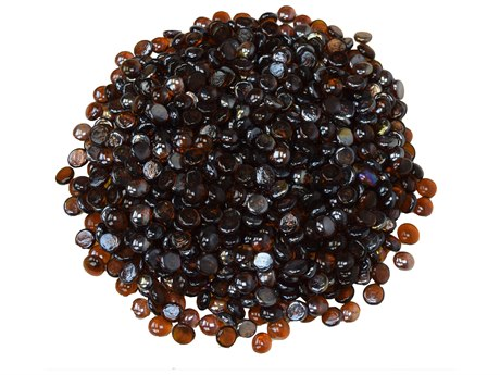 Oakland Living Fire Table Glass Beads half round for Burners in Amber Color