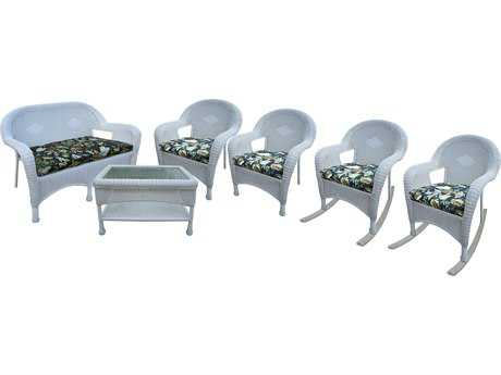 Oakland Living Resin Wicker 6 Pc. Seating Set