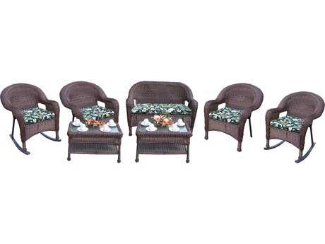 Oakland Living Resin Wicker 7 Pc. Seating Set