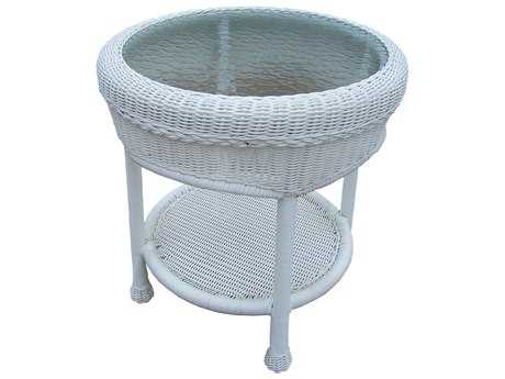 Oakland Living Resin Wicker 21 Round End Table