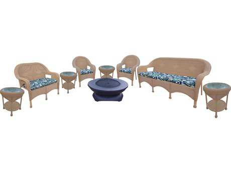 Oakland Living Resin Wicker 9 Pc. Seating Set