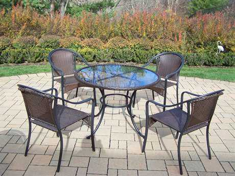 Oakland Living Elite Tuscany Resin Wicker 5 Pc. Dining Set