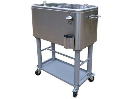 Oakland Living Stainless Steel 20-Gallon Party Cooler Cart with Insulated Basin