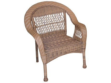 Oakland Living Natural Wicker Dining Arm Chair