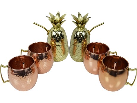 Oakland Living Copper Stainless Steel 6 Piece Party Set