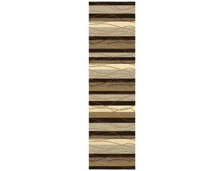 Orian Rugs Four Seasons Tonal Stripe Rectangular Mink Runner Rug