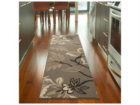 Orian Rugs Nuance Lily Rectangular Taupe Runner Rug