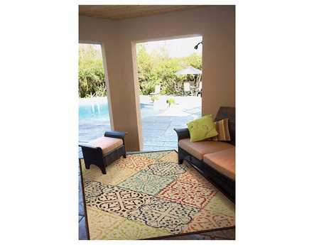 Orian Rugs Veranda Whitten Rectangular Blue Area Rug