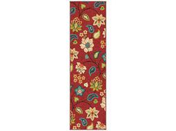 Orian Rugs Veranda Garden Chintz Rectangular Red Runner Rug