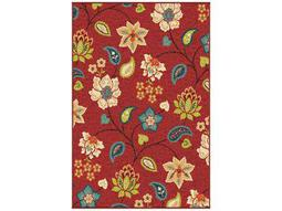 Orian Rugs Veranda Garden Chintz Rectangular Red Area Rug