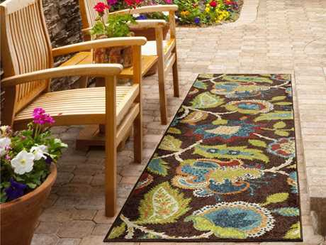 Orian Rugs Veranda Ethridge Rectangular Brown  Runner Rug