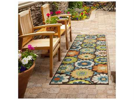 Orian Rugs Veranda Vissage Rectangular Gemstone Runner Rug