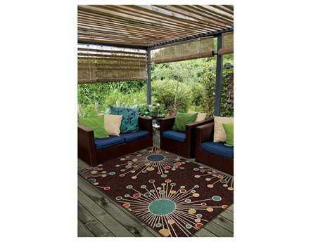Orian Rugs Veranda Retro Fit Rectangular Brown Area Rug