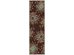 Orian Rugs Veranda Retro Fit Rectangular Brown Runner Rug