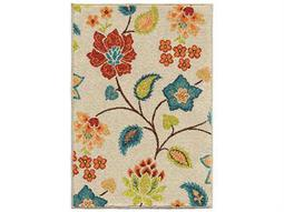 Orian Rugs Veranda Bloom Ivory Rectangular Area Rug